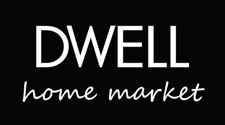 Dwell Home Market Logo on Black